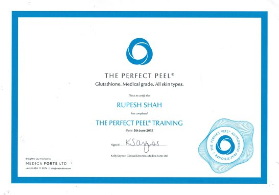 The Perfect Peel Training Certificate